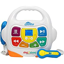 Kids Karaoke Machine - Sing Along MP3 Music Player with 2 Microphones - Plays Music via Bluetooth, SD, USB, Aux &FM Radio