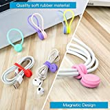 Joseche Reusable Magnetic Cable Ties Cord