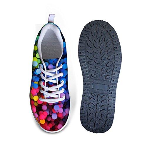 FOR U DESIGNS Stylish Graffiti Pattern Womens Wedges Platform Walking Shoes Colorful B6 lvGGh3