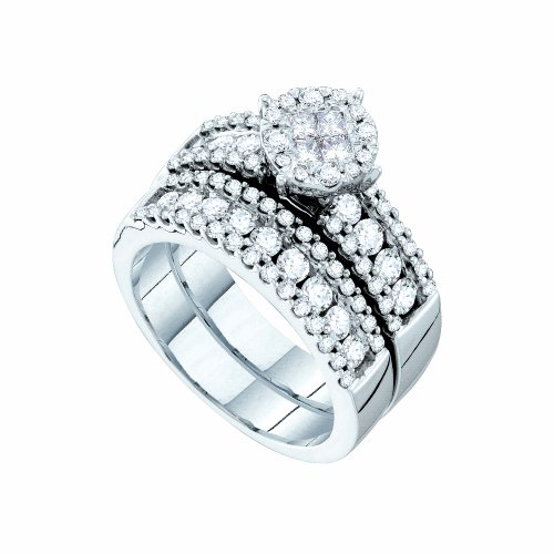 1 3/4 Total Carat Weight DIAMOND LADIES SOLEIL BRIDAL SET by Jawa Fashion