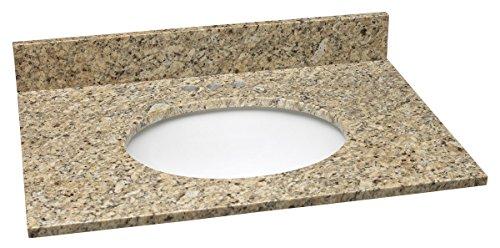 (Design House 552414 Granite Vanity Top/Single Bowl, Venetian Gold, 31-Inch by 22-Inch)
