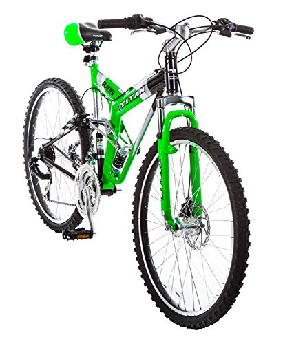 Titan #135 Glacier PRO Alloy Dual Suspension All Terrain 21 Speed 19 Inch Frame Mountain Bike