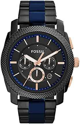 Fossil Men's FS5164 Machine Two-Tone Stainless Steel Watch