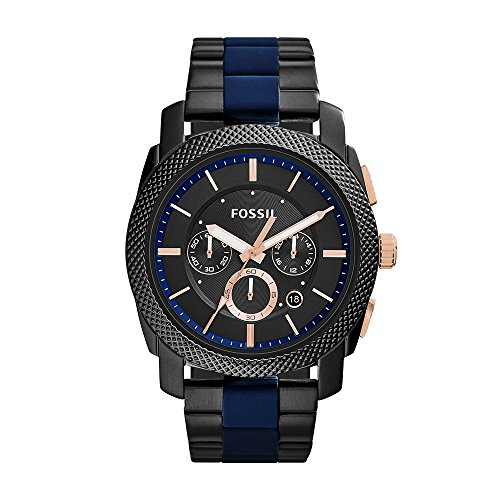 Fossil Men's Machine Stainless Steel and Silicone Chronograph Quartz Watch
