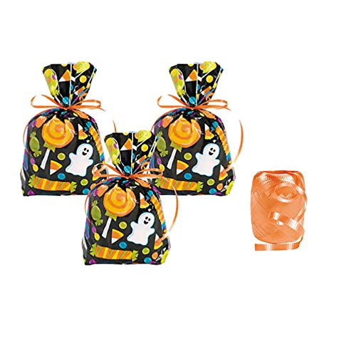 Halloween Goodie Bags - 24 Treat Bags with Ribbon Ties for $<!--$10.95-->