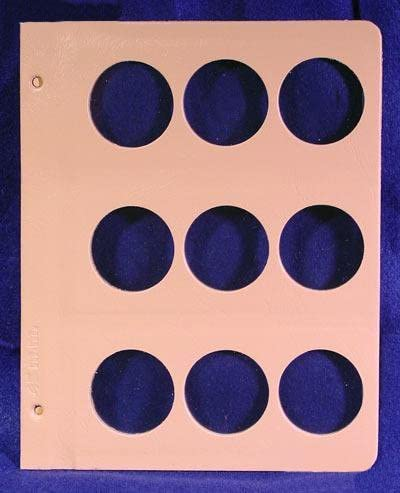 Dansco Coin Album Page Blank 45mm