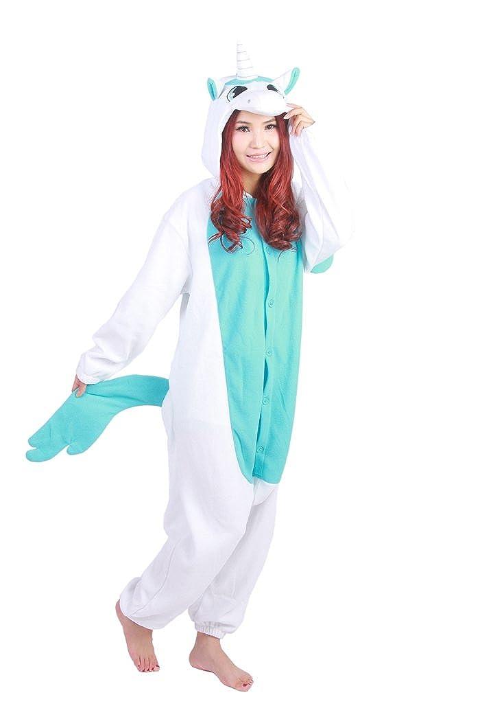 Fandecie Costume Animale Costume Animale Pigiama Pigiama Tuta Kigurumi Unicorno Donna Uomo Cosplay Adulto per Carnevale Animale Halloween