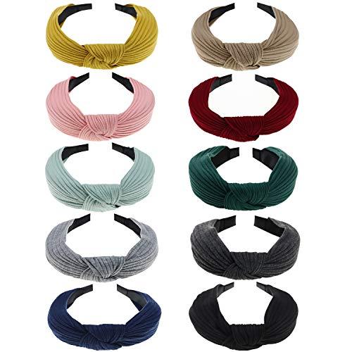 DRESHOW Boho Headbands for Women Girls Flower Printed