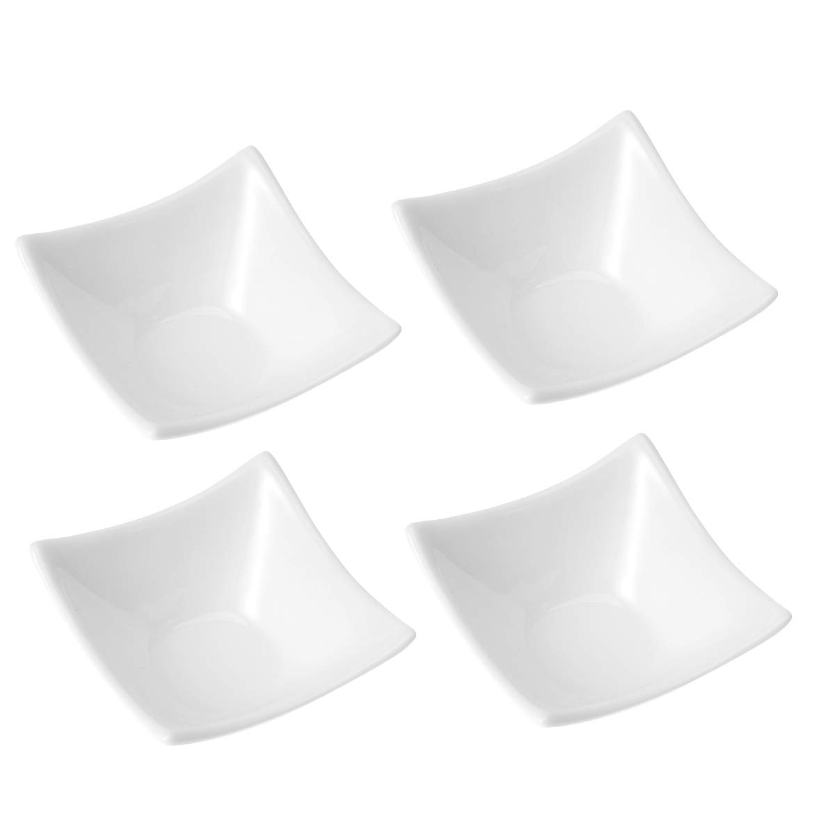 UPKOCH 4pcs Ceramic Sauce Dishes Dipping Dishes Dip Bowls Dip Platter (White)