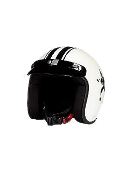ZYear Casco de Motocicleta Hombres Cascos de Franja Abierta para Mujeres FRP en Varios tamaños (