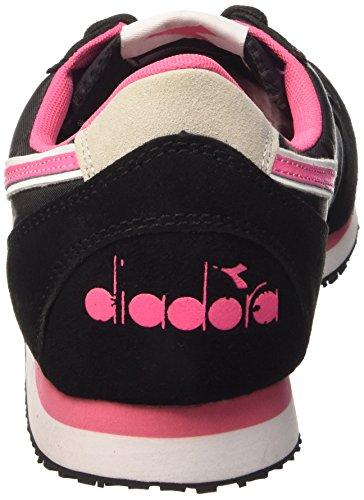 Diadora K_Run, Chaussures Mixte Adulte Nero/Rosa Limonata