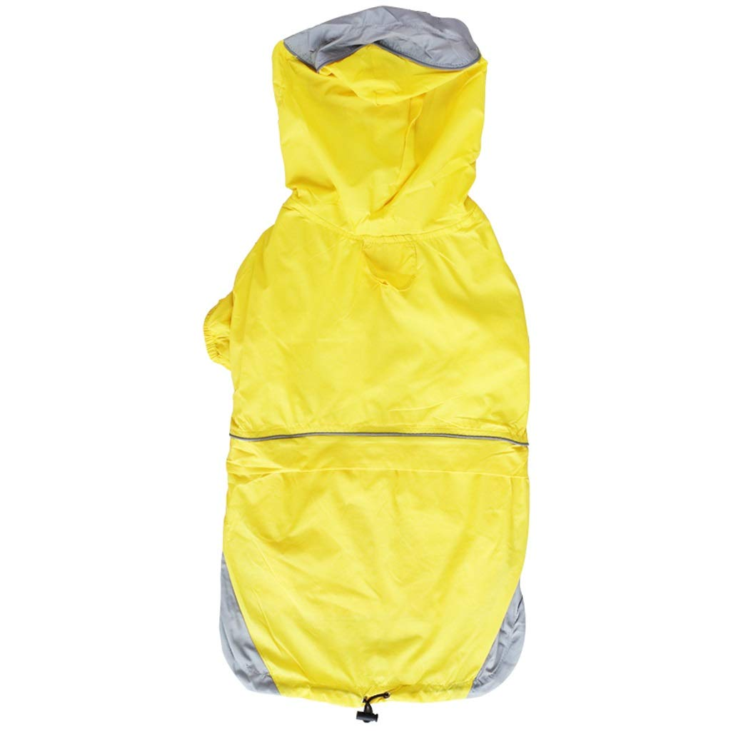 LZRZBH Pet Supplies Pet Raincoat Suitable for Golden Hair Medium Large Dog Labrador Half Pack Two Feet Pet Waterproof Dog Clothes,Green,Orange,Yellow(S-L) (Color : Yellow, Size : M)