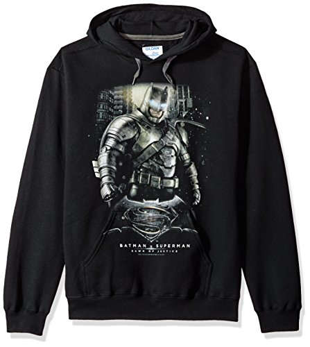 Trevco Men's Batman Vs. Superman Bats Ground Zero Hoodie Sweatshirt at Gotham City Store