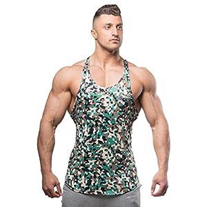Jed North Bodybuilding Tank Top Gym Stringer Y Back Muscle Racerback