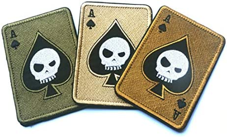 Apparel Sewing & Fabric Tad Death Card Rectangular Badge Embroidery Poker Tactical Badges Hook And Loop Military Morale Armband Army Combat Badge Special Summer Sale Home & Garden