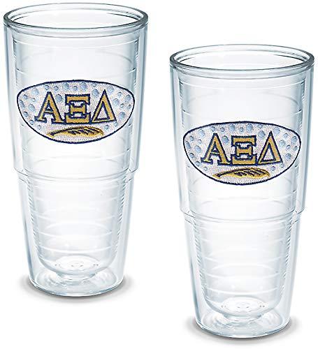 - Tervis Alpha Xi Delta Sorority Tumbler (Set of 2), 24 oz, Clear