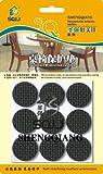 1 Inch Dia. Rubber Pad Anti-skid Pad Value Pack (Furniture and Floor Protectors) Black Color Eva 18 Pack