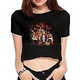 Womens Nick Menza Hard Rock Yearn Heavy Metal 2016 Fashion Short Sleeve Crop Top T Shirts