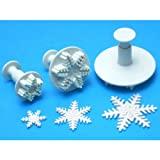 PME Plunger Cutters, Snowflake, 3-Pack