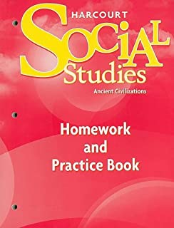 Amazon harcourt social studies student edition grade 7 ancient harcourt social studies homework and practice book student edition grade 7 ancient civilizations fandeluxe Gallery