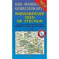 Rad - Wander- und Gewässerkarte Rheinsberger Seen, Großer Stechlin: Mit Canow, Kleinzerlang, Flecken Zechlin, Rheinsberg, Dollgow, Menz, Neuglobsow. ... Gewässerkarten Mecklenburgische Seenplatte