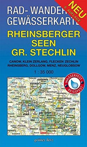 rad-wander-und-gewsserkarte-rheinsberger-seen-grosser-stechlin-mit-canow-kleinzerlang-flecken-zechlin-rheinsberg-dollgow-menz-neuglobsow-gewsserkarten-mecklenburgische-seenplatte