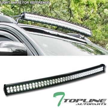 Amazon topline autopart 6500k universal 40 240w cree curved topline autopart 6500k universal 40quot 240w cree curved dual row led bumper work light bar aloadofball Image collections