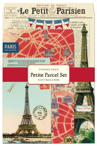 - Cavallini 12-Pack Petite Vintage Paris Parcel Set