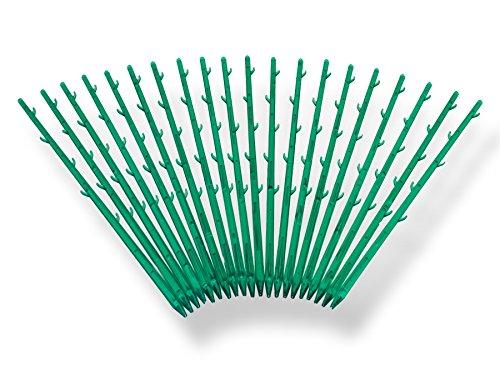 Kunststoff Blumenstäbe Pflanzenstäbe Grün 30cm, 20 Stück 20 Stück Unbekannt