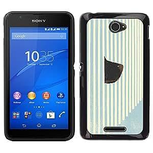 LECELL--Funda protectora / Cubierta / Piel For Sony Xperia E4 -- Hocico Hocico de perro arte raya pared Pintura --