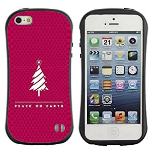 DREAMCASE Cita b¨ªblica Silicona y Rigida Funda Cover Carcasa Dura Case Para APPLE IPHONE 5 / 5S - PEACE ON EARTH