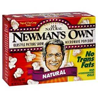 Newman's Own Microwaveable Popcorn, Gluten Free, 3-count (Pack of6)