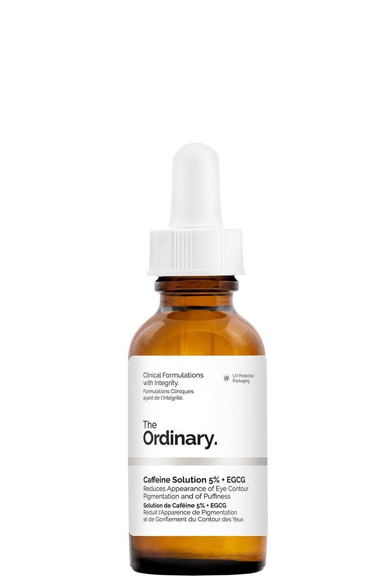 The Ordinary Solution à base de caféine 5% et 30ml d'EGCG pour estomper les tâches du contour des yeux, et les poches The Ordinary'