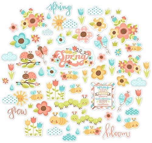 Paper Die Cuts - Spring Has Sprung - Over 60 Cardstock Scrapbook Die Cuts - by Miss Kate Cuttables