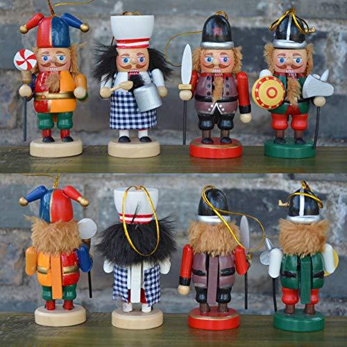 Christmas Nutcracker Ornaments Set, 6PCS Collectible Wooden Christmas Nutcrackers for Christmas Decor, 4 Inch Tall