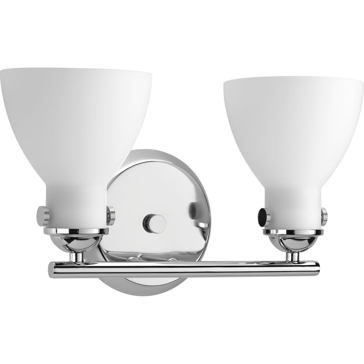 Progress Lighting P2771-15 Contemporary/Soft 2-100W Med Bath Bracket, Polished Chrome by Progress Lighting B01AISJJW8 15447 光沢クロム 光沢クロム