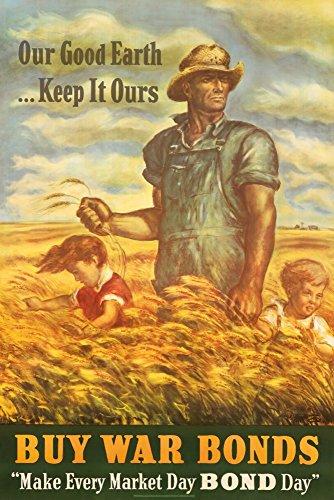 Buy War Bonds Vintage Poster (artist: Curry, John Steuart) USA c. 1942 (9x12 Art Print, Wall Decor Travel ()