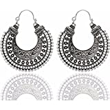 Best Earrings Gifts For Girls Womans - Efulgenz Indian Vintage Retro Ethnic Dangle Gypsy Oxidized Review