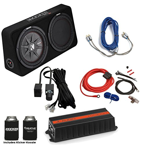 "JL Audio HX300/1 300 Watt Amplifier with Bass knob, Kicker 12"" CompRT Loaded Enclosure & Wiring kit."