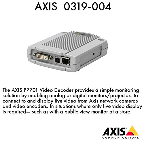0319-004-AXIS-P7701-1-CHANNEL-DECODER-H264-AXIS-Communications-Video-Encoder-Standalone-by-AXIS-COMMUNICATION-INC