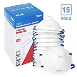Tools & Hardware : DCM Particulate Respirator N95 Dust Mask NIOSH Certified Safety Protection Face Masks with Cool Exhalation Valve (15 Pack) for Paint, Sanding, Gardening, Mowing, Air Pollution and Fire Smoke