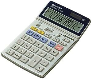 Sharp EL-337C Escritorio - Calculadora (Escritorio, Calculadora financiera, 12 dígitos, Plata)