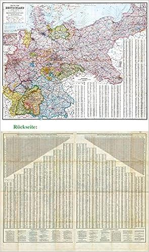General Karte Deutsches Reich Deutschland 1910 9783867779999