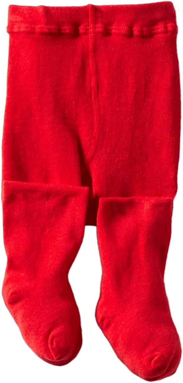 Jefferies Socks Baby Girls' Seamless Organic Cotton Tights: Infant And Toddler Tights: Clothing