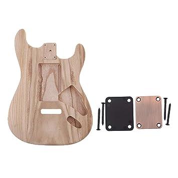 Sharplace Guitarra Electrica Sin Terminar con Placa de Mástil Fundas Accesorios Bajos: Amazon.es: Instrumentos musicales