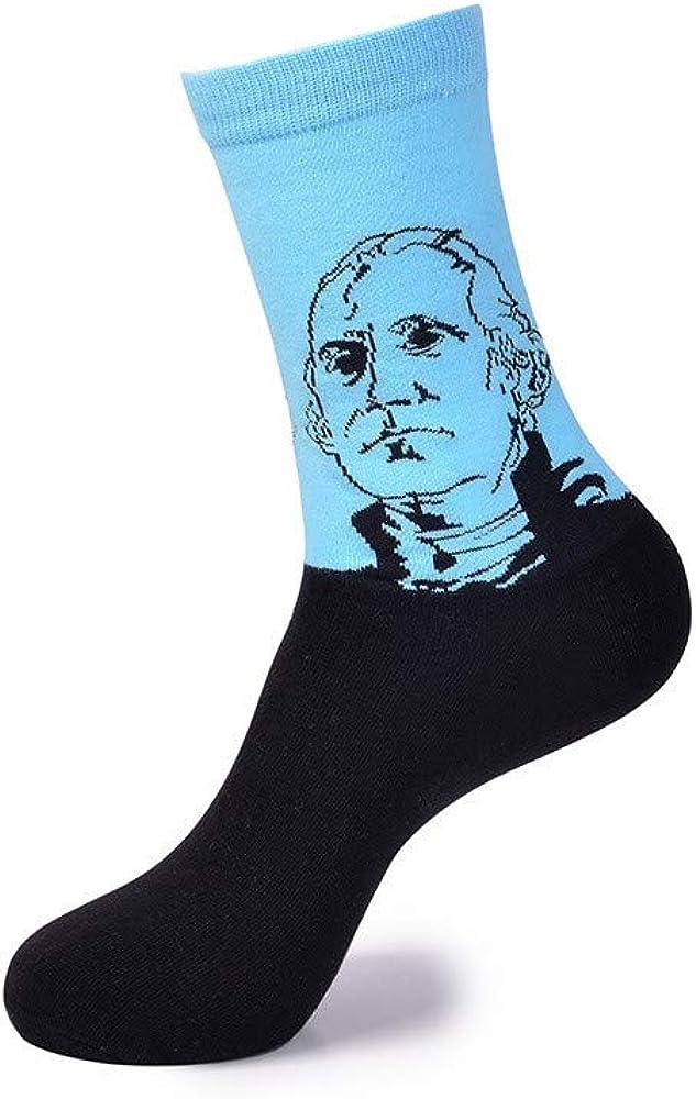 Mens and Women/'s Novelty Cotton Crew Socks 5 Pairs Art Socks Unisex Casual Socks