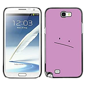 Stuss Case / Funda Carcasa protectora - Sad Pink Face - Samsung Note 2 N7100