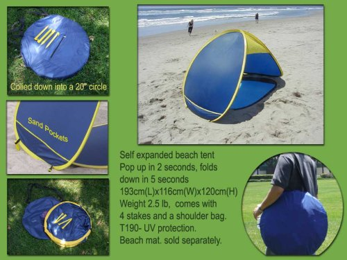 Genji Sports Pop Up Beach Tent Sun Shelter & Genji Sports Pop Up Beach Tent Sun Shelter - Outdoor Stuffs