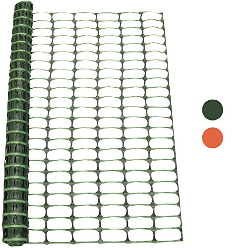 Woodside 1m x 15m Green Plastic Barrier Safety Pet Event ...