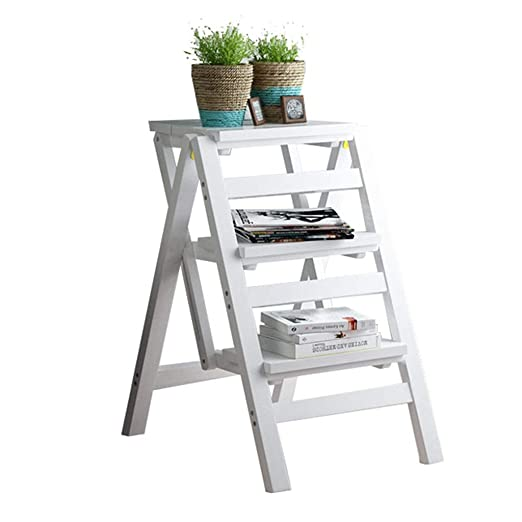 Escalera plegable de 3 niveles independiente | Escalera estante ...